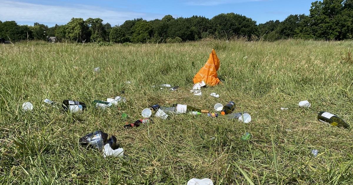 山林にゴミを不法投棄する者もいます。