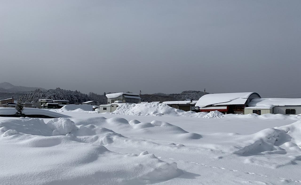 積雪地の空家