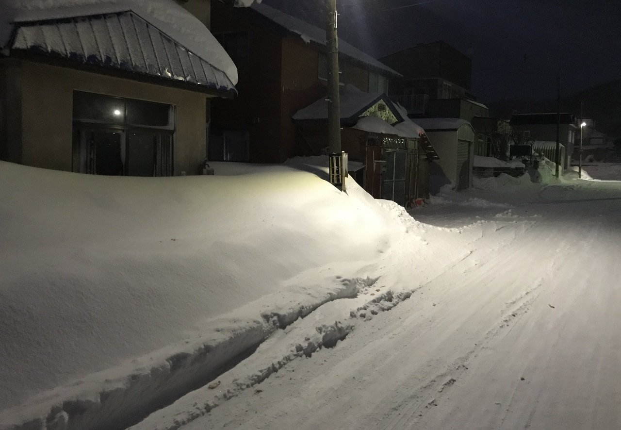 留萌市の土地は冬の雪を考えなければいけない。